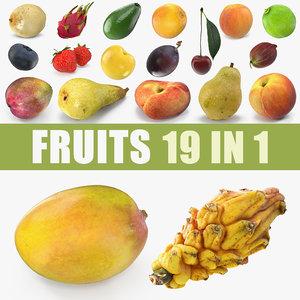 3D fruits 3