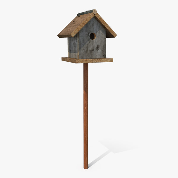 garden birdhouse stand model
