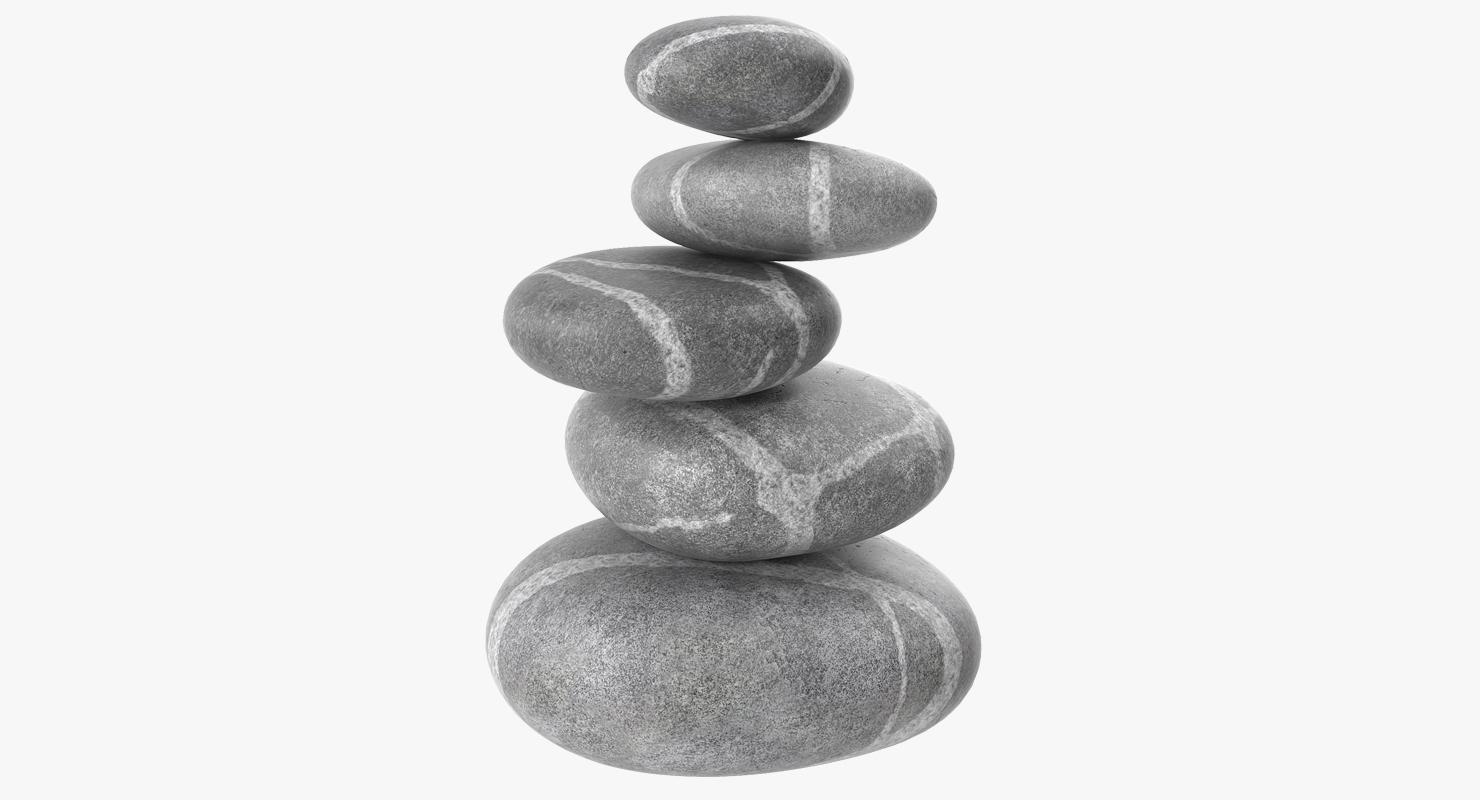 3d Zen Stones Model Turbosquid 1230126