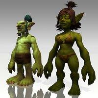 3D world warcraft - goblin