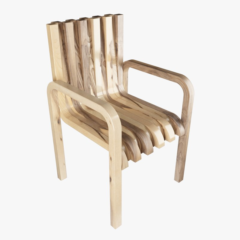 chair amun 3D