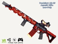 3D model optimized deadshot ar-15 assault rifle