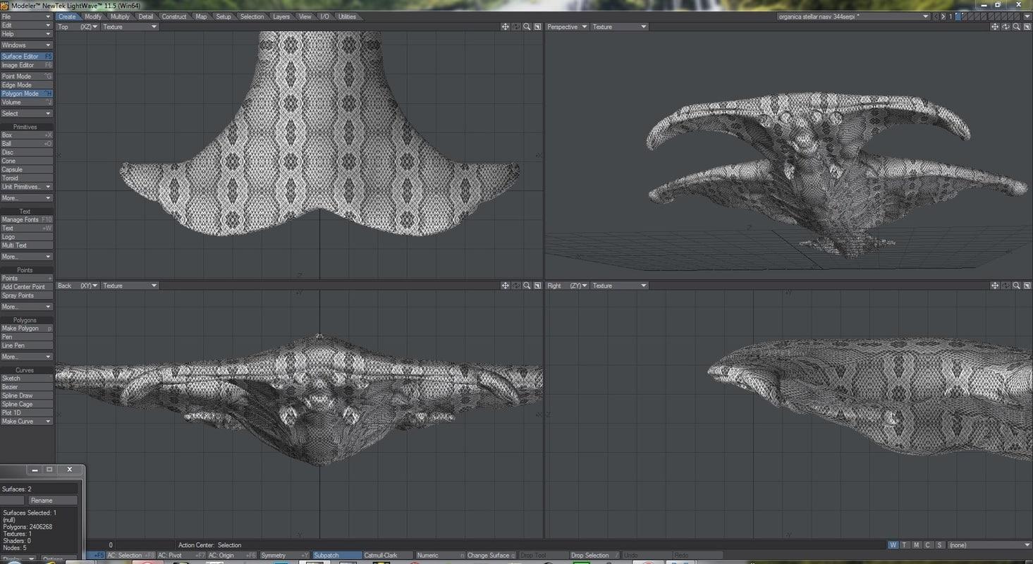 zefra organic alien 3D model