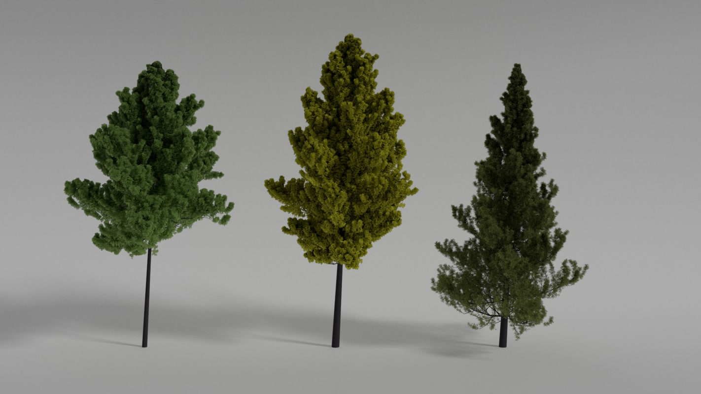 3D tree hight-poly