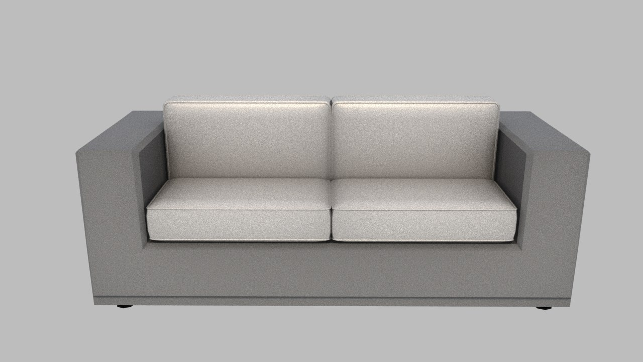 3D small big sofa model