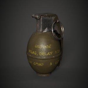 m26 grenade 3D