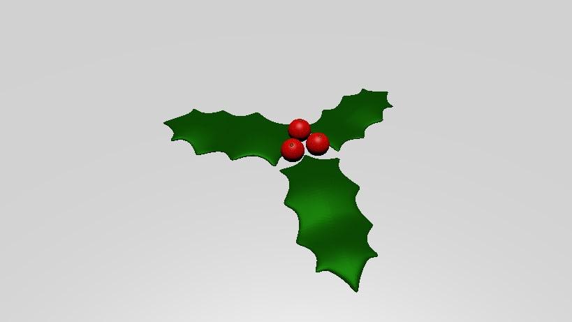 3D mistletoe holidays