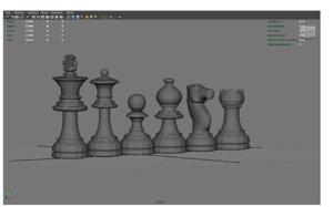 chess pieces model