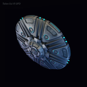3D talon sci-fi ufo