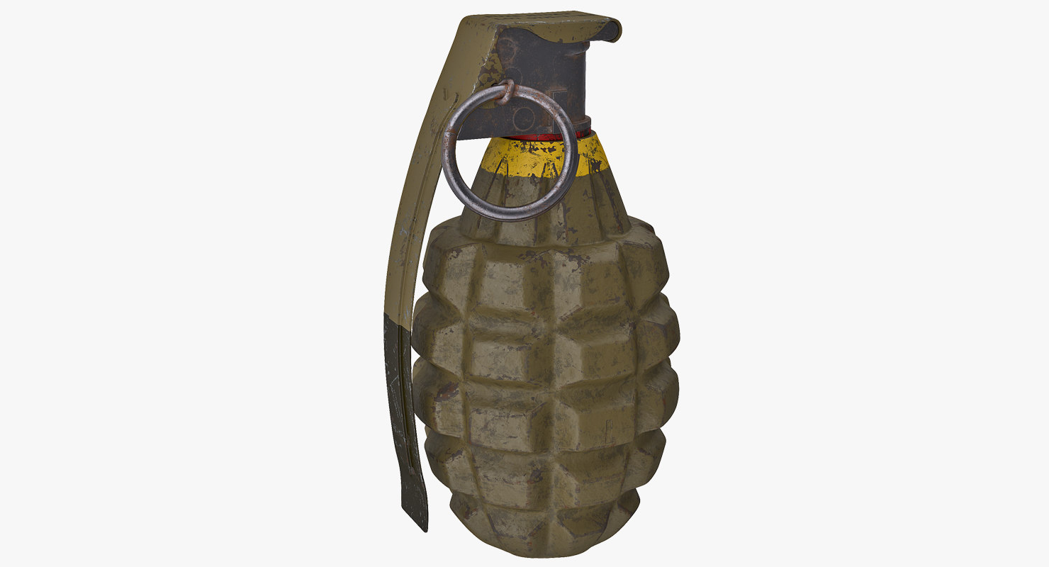 3D hand grenade mk2 model