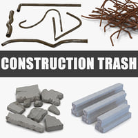 construction trash 3D model