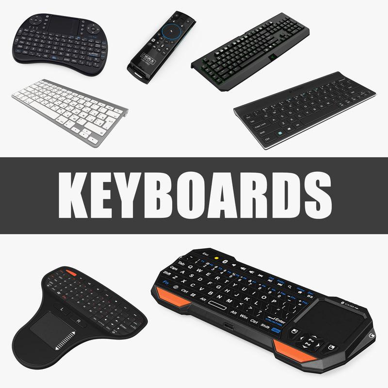 keyboards set portable 3D model