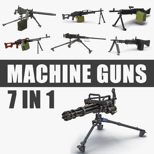 3D machine guns model