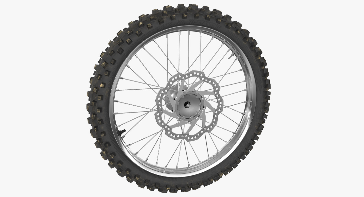 motocross bike wheel 3D