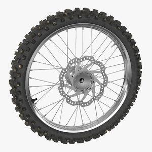 motocross bike wheel 3D