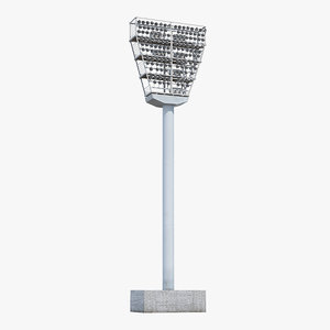 3D stadium light tower model