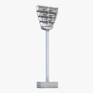 3D stadium light tower model