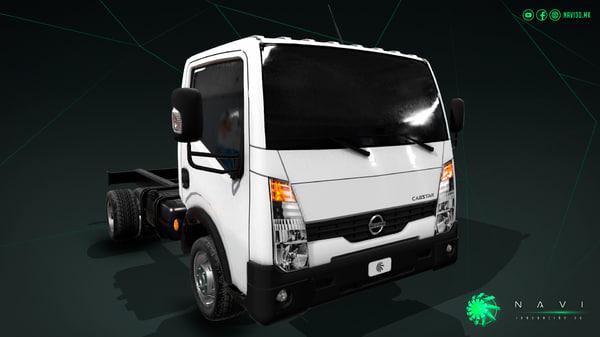 nissan cabstar truck trailer 3D model