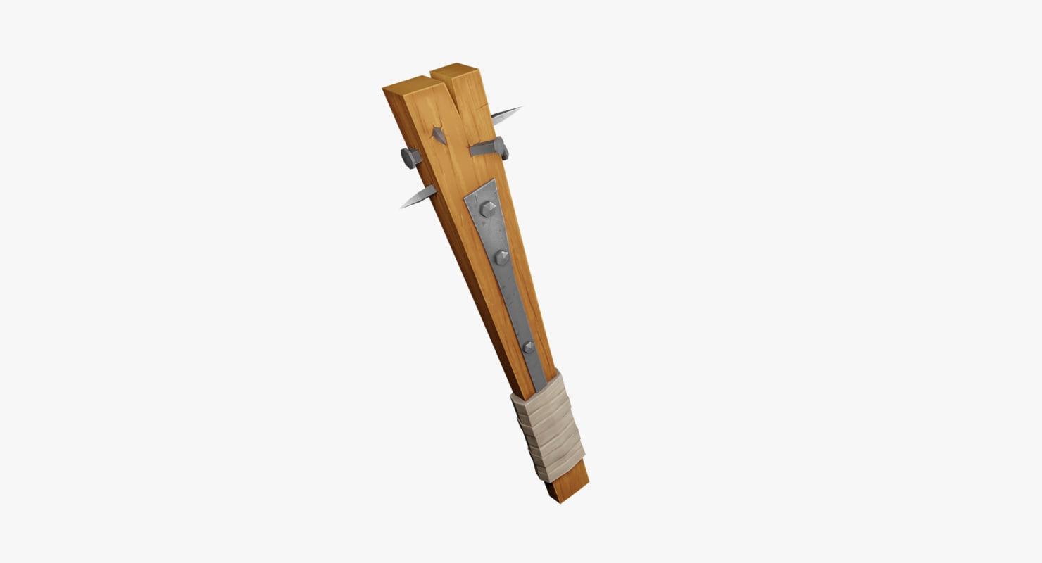 3D primitive weapon fantasy model