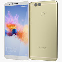honor 7x gold 3D model
