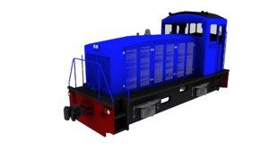 3D indonesian locomotive