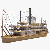 3D mississippi steamboat