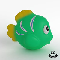 bath toy fish green 3D