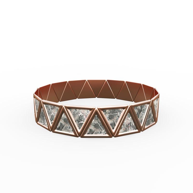3D bracelet triangles design