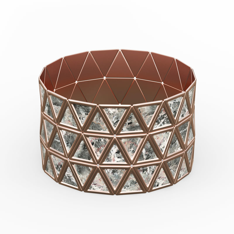 bracelet triangles design 3D model