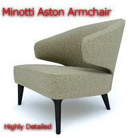 minotti aston armchair 3D model