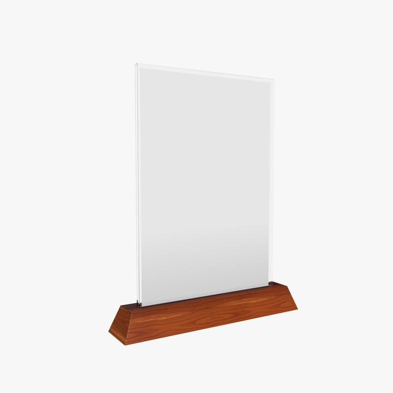 wooden holder 3D model