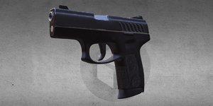 pistol games 3D model