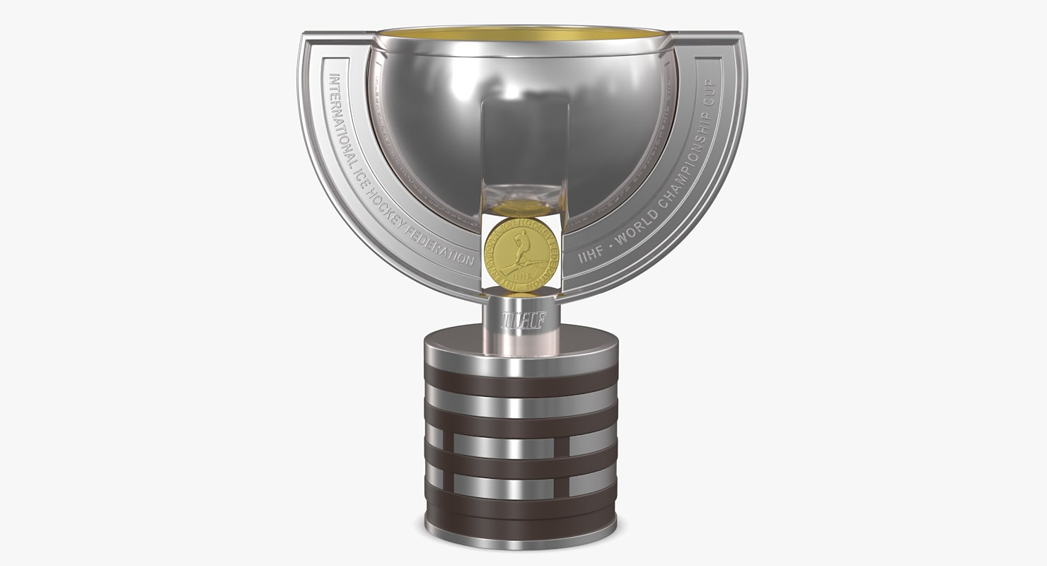 3D iihf trophy cup model
