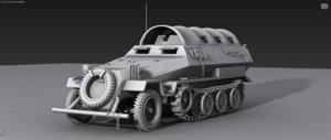 sdkfz 251 3D model