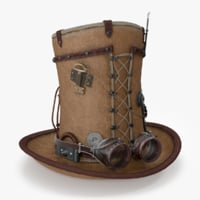 3D model steampunk hat
