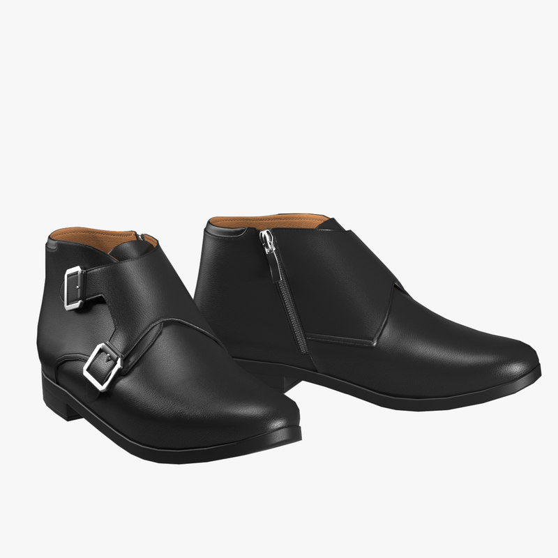 realistic leather shoes 3D model