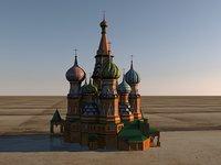 moscow saint basils 3D model