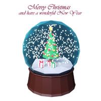 3D christmas globe