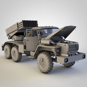 3D russian ural truck model
