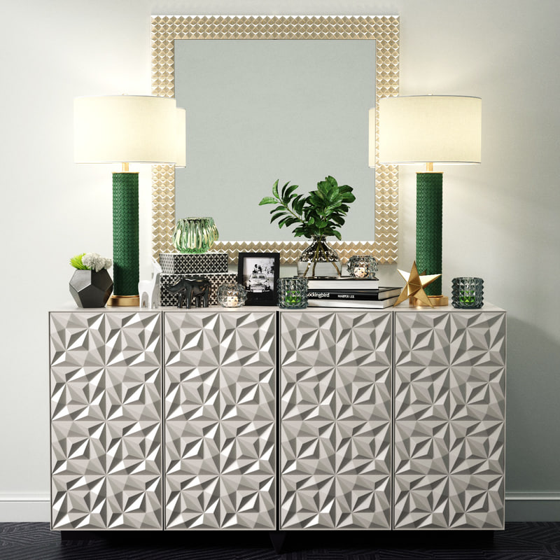 3D sideboard decorative set