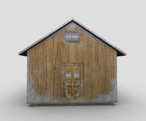 winter house 3D model