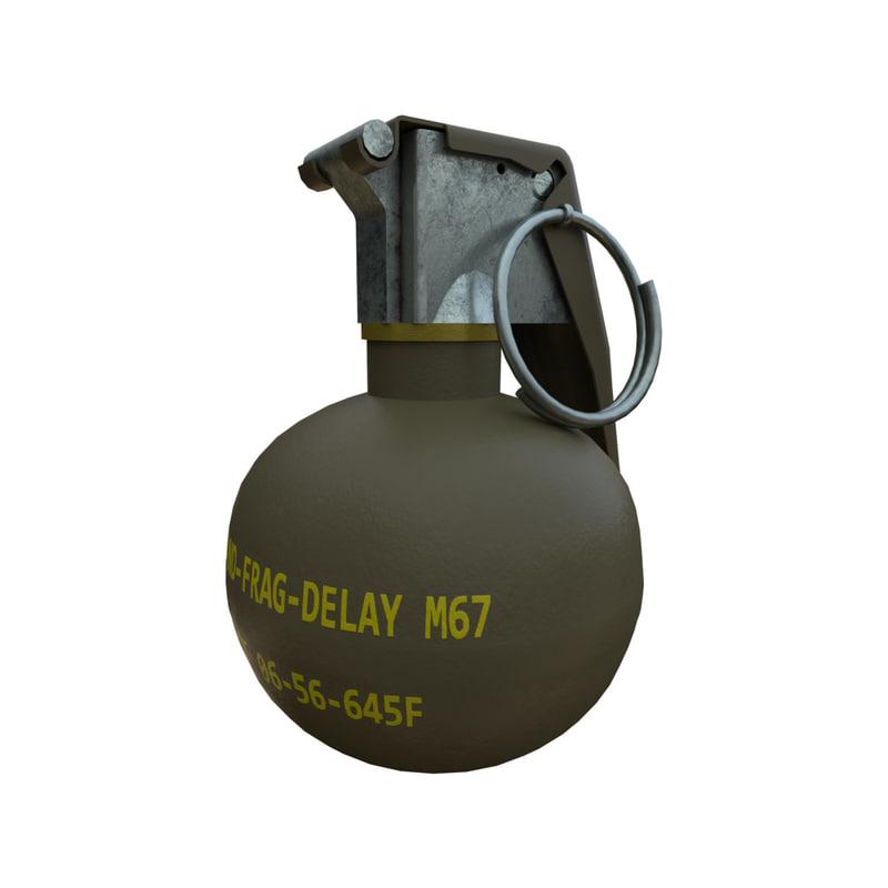 3D model m67 grenade
