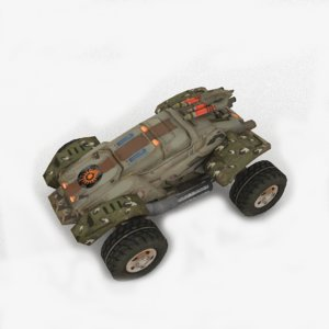 military vehicle scifi army 3D