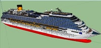 costa diadema cruise ship 3D model