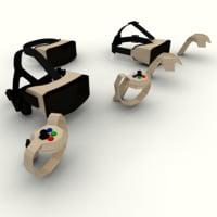 3D virtual reality helmets model