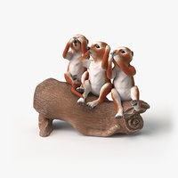 figurine suricates 3D