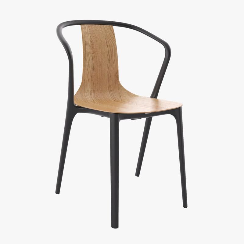 belleville chair 3D model
