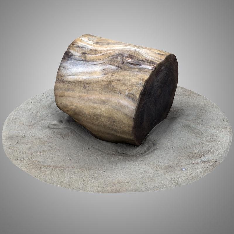 rustic wood stump 2 model