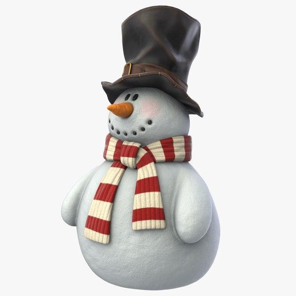 realistic snowman pbr model