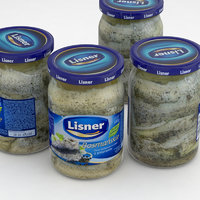 3D lisner herrings jar